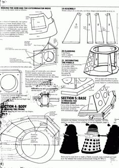 """A note from the BBC Press Office sent in the early 1980s to a Doctor Who fan who requested the plans to construct his own Dalek has recently been unearthed by Letters of Note. The BBC did indeed send the plans, along with a warning to the fan (Ronald) that """"the constructed Dalek will be used only for personal uses."""""""