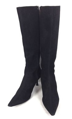 Ann Taylor Shoes Womens 7.5 Black Leather Knee High Boots #AnnTaylor #FashionKneeHigh