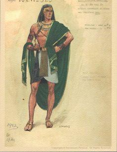 "Edith Head costume design for ""The Ten Commandments."""
