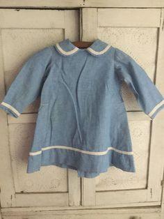Sweet Antique 1800's Chambray Child's Dress AAFA | eBay