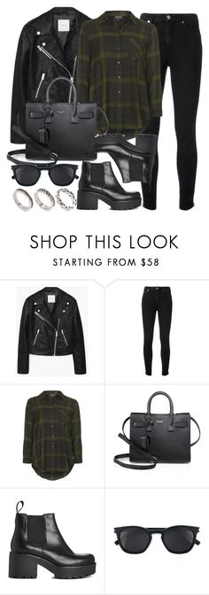 """Style #11487"" by vany-alvarado ❤ liked on Polyvore featuring MANGO, Yves Saint Laurent, Topshop, Vagabond and ASOS"