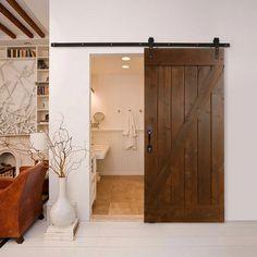 Trendy Bathroom Ideas Old House Sliding Doors Ideas Old Barn Doors, Diy Barn Door, Sliding Barn Door Hardware, Wooden Doors, Sliding Doors, Front Doors, Entry Doors, Panel Doors, Barnwood Doors