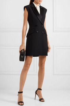 Alexander McQueen | Double-breasted crepe tuxedo mini dress | NET-A-PORTER.COM