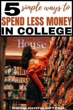 Are you looking for some of the best tips to spend less money in college? You have found 5 of the best ways to spend less money on food and many other things in college. This is the only guide you need to help becoming money savvy and better at saving. The money hacks in this post will give you everything you need to start a journey of frugal living and become better at saving. Money Tips, Money Saving Tips, Money Hacks, Money Savers, College Life Hacks, College Tips, Teaching Kids Money, Money Management Books, Frugal Living Tips