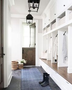 Mudroom with Split door