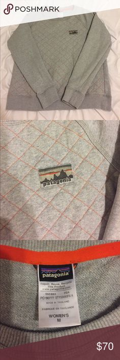 Patagonia Quilted Cotton Pullover EUC, is a re-posh. I loved it but it just doesn't fit me like I'd like it to 😢 This is a women's medium, but it is too wide on and hits right at my hips (I like things a little over sized not just right) and for reference i'm 5'7 105lbs. I would say this fits most like a medium petite or large petite. **No rush to get rid of it and mainly interested in trading for a better sweater or possibly a re-tool in a medium, **hence the high price.** Patagonia Tops…