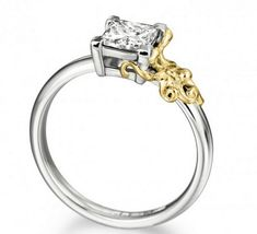 I usually don't like diamonds, but I'll make an exception for a ring with a tiny octopus.