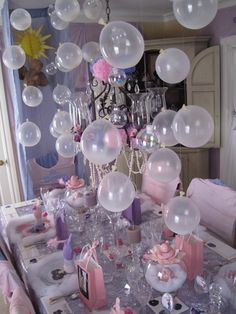 Adelaide is having a bubble party to ring in her 2nd year. This is part of my inspiration for decor.