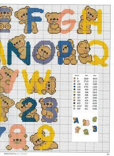 Teddy bear alphabet cross stitch 2