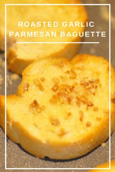 Toasted Parmesan Garlic Baguettes - Perfect side to your favorite Italian dish instead of the usual French Bread. Perfect to serve with your favorite dip.