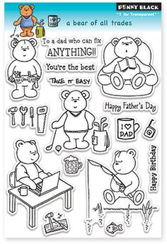 A Bear Of All Trades - Clear Stamps dropping you a line