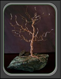 wire treetree of lifecopper treehome by RosesWireArtJewelrY, $58.00