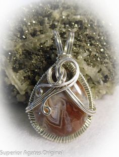 Gorgeous Lake Superior Agate Wire Wrapped By Superioragates, $35.00