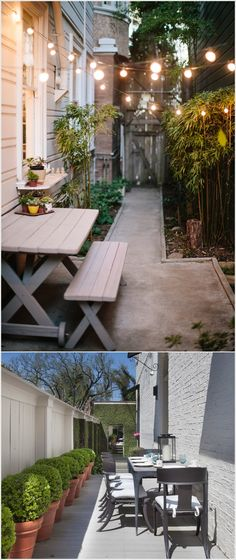 Long Narrow Backyard Design Ideas : 1000+ Narrow Backyard Ideas on Pinterest  Small Backyard Landscaping