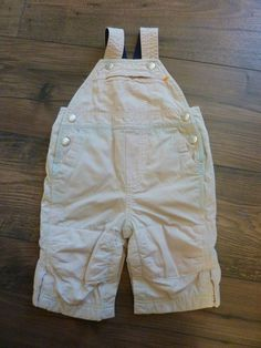 801f683b8 BABY GAP BOYS 3 TO 6 MONTHS LINED OVERALLS~KHAKI W/BLUE FLANNEL LIKE  LINING~EUC #BABYGAP #Everyday