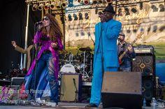 Linda and Chris performing with Blinddog Smokin' at the Snowy Range Music Festival. #blinddogsmokin #snowyrangemusicfestival