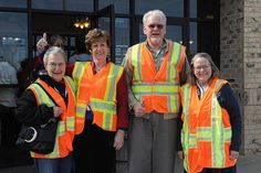 KDOT retirees in Topeka. They are participating in National Work Zone Awareness Week, April 15-19, and wearing orange to show their support for highway workers across Kansas to raise awareness on the need for safety in work zones. Find out more about KDOT's work zone safety efforts at www.ksdot.org and click on the Go Orange logo.