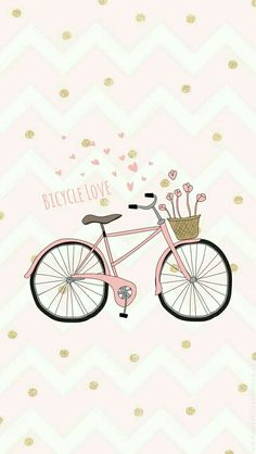 Love Bike Wallpaper Iphone Cute, Wallpaper Quotes, Cute Wallpapers, Iphone Wallpaper, Bicycle Wallpaper, Wattpad Cover Template, Drawing Block, Kids Poster, Cell Phone Covers