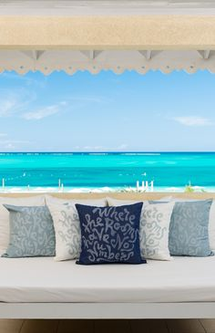 Room with a view - balcony at Beach House, boutique resort on Grace Bay Beach, Turks & Caicos