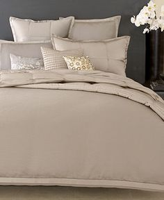 master bedroom bedding (with chocolate and cranberry accents)