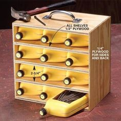 Cheap way to organize nails and screws