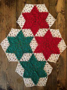 Christmas Star Throw – Free Crochet Pattern #crochet