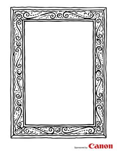 craft templates for kids a good frame template can be used for so many things