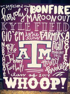 Texas A canvas