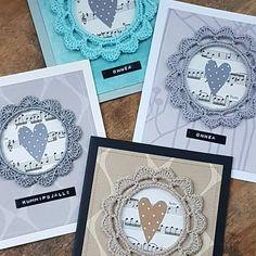 So I made a few extras too... 😊  #cardmaking #cardfactory #korttiaskartelu #papercrafting #paperiaskartelu #korttitehdas #crochetframes #virkattukehys #onnittelukortti #onnea #polkadottedheart #pilkullinensydän #memmus Card Factory, Card Making, Paper Crafts, Nursery, Tags, Crochet, Frame, How To Make, Instagram