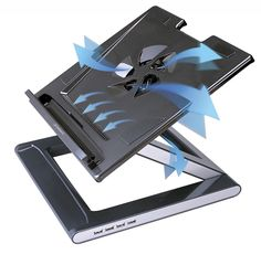 Convert your laptop into an Ergonomic Workspace with Defianz Desk Stand. Height and Angle Adjustable Notebook Cooler Stand. Laptop Desk, Laptop Computers, Office Desk With Hutch, Desk Hutch, Conductive Materials, Cooler Stand, Computer Jobs, Home Desk, Tecnologia