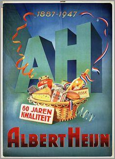1887 - 1947 AH. 60 Jaren met Albert Heijn. - #junkydotcom Nederland Holland The Netherlands