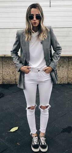 How to Wear: The Best Casual Outfit Ideas - Fashion Mode Outfits, Fall Outfits, Casual Outfits, Fashion Outfits, Womens Fashion, Fashion Trends, Sneakers Fashion, Cute Fashion, Look Fashion