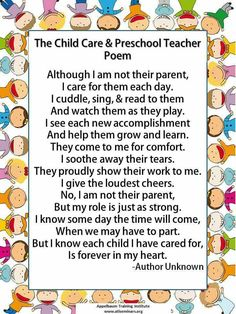 Child care workers poem. This was true for me.