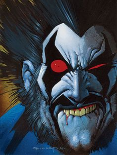 Lobo - Portrait of a Bastich - Cover by Simon Bisley Simon Bisley, Dc Comic Books, Comic Book Covers, Comic Art, Comic Pics, Comic Book Characters, Comic Character, Character Design, Caricature