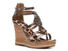 Rampage Bastian Snake Wedge Sandal Wedges Sandal Shop Women's Shoes - DSW