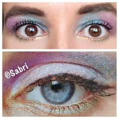 #beautytrend as seen in #glamour: #mermaideyes! Play with #shimmery #blue, #purple, #gold, #green. I reversed the colors and made it #pop! #Beauty #Belleza #Bellezza #Beauté #Beleza #Cosmetics #Cosméticos #Cosmetici #produitsdebeaute  #Makeup #Maquillaje #maquillage #maquiagem #fabat40.