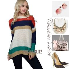 "MULTICOLORED LONG SLEEVED KNITTED CROCHET SWEATER Super cute sweater/ Model is wearing size: S FIT: TRUE TO SIZE Model Measurements: Bust: 34"", Waist: 24"", Hips: 35"", Height: 5' 7"" Multi color 100% Acrylic Sweaters Cardigans"