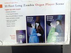 Gemmy 11 ft Halloween Zombie Organ Player Scene Animated Lights Music Inflatable | eBay