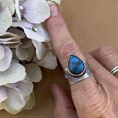 Copper Ring Artisan Labradorite and Lapis Statement Ring Statement Ring Sterling Ring Lapis Ring Metalsmith Labradorite Ring