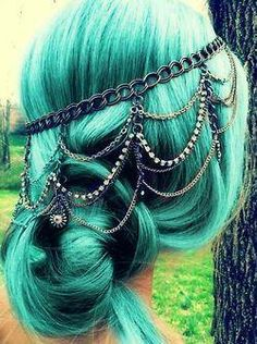 If I ever make it big as a writer and don't have an office job, this will be my hair color.