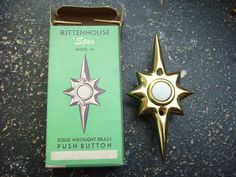 if i had a doorbell, i'd use this.  Vintage Rittenhouse Mid Century Modern Starburst Door Bell Push Button | eBay