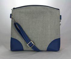 kabelka Nora modro šedá