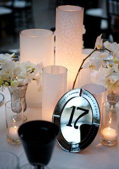 Jaw-Droppingly Beautiful Wedding Shots from Ashley Garmon Great Gatsby Wedding, Mod Wedding, Wedding Events, Dream Wedding, Wedding Day, Unique Table Numbers, Wedding Table Numbers, Table Signs, Wedding Centerpieces