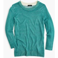 60e36d14675 Crew Womens Tippi Sweater In Blue-Emerald Gingham (Size L)