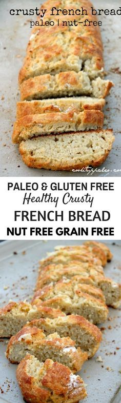 Crusty Paleo french Bread. Best Grain free bread recipes! Paleo french bread. Easy to make sandwich bread. Delicious healthy bread recipes for all your cravings!