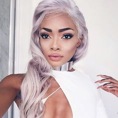 Designer Clothes, Shoes & Bags for Women Pretty Hairstyles, Wig Hairstyles, Nyane Lebajoa, Tumbrl Girls, Natural Hair Styles, Long Hair Styles, Dream Hair, About Hair, Hair Day