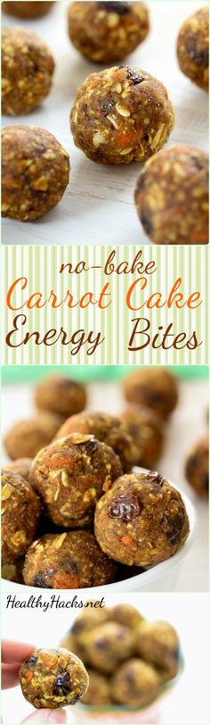Enjoy all the flavors of carrot cake shrunk down to a bit-sized energy ball! These Carrot Cake Energy Bites will keep your tummy full and your mouth happy!