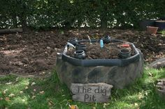 "The dig pit - image shared by Early Years Learning. Love it! ("",)"