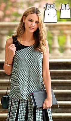 Top Burda Sep 2016 #122  http://www.burdastyle.com/pattern_store/patterns/layered-tank-blouse-092016