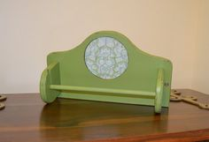 Decorative Paper Towel Holders | Paper Towel Holder Green Shabby Chic Upcycle Recycle Handmade ...